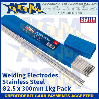 Sealey WESS1025 Welding Electrodes Stainless Steel Ø2.5 x 300mm 1kg Pack