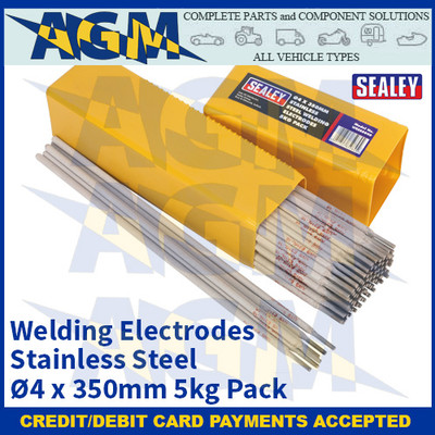 Sealey WESS5040 Welding Electrodes Stainless Steel Ø4 x 350mm 5kg Pack