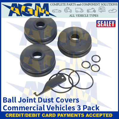 Sealey RJC02 Ball Joint Dust Covers - Commercial Vehicles Pack of 3