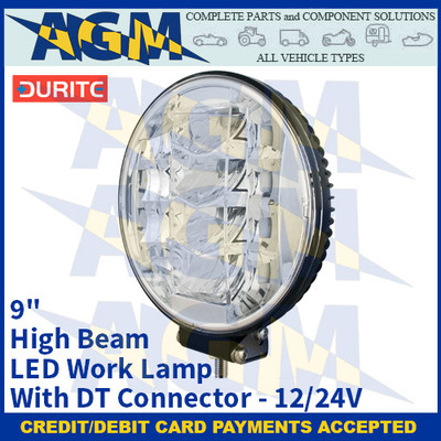 """Durite 0-420-28 9"""" High Beam LED Work Lamp With DT Connector - 12/24V"""