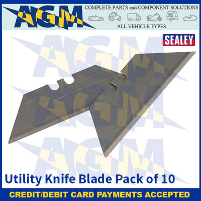 Sealey AK86/B Utility Knife Blade Pack of 10