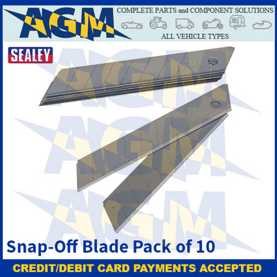 Sealey AK86R/B Snap-Off Blade Pack of 10