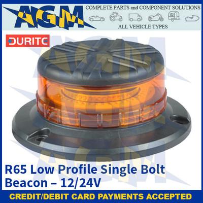Durite 0-445-36 R65 Low Profile Single Bolt Beacon - 12/24V