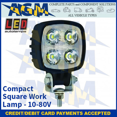 LED Autolamps 8112B80V Compact Square Work Lamp - 10-80V