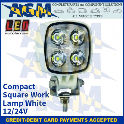 LED Autolamps 8112WM Compact Square Work Lamp - White - 12/24V