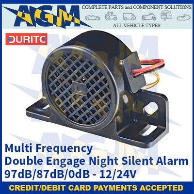 Durite 0-564-13 Multi Frequency Double Engage Night Silent Alarm - 97dB/87dB/0dB, 12/24V
