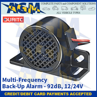 Durite 0-564-21 Multi-Frequency Back-Up Alarm - 92dB, 12/24V