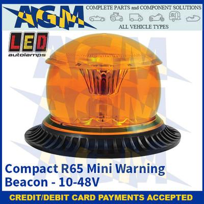 LED Autolamps MB12AM-1 Compact R65 Mini Warning Beacon - 10-48V