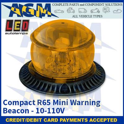 LED Autolamps MB12AME Compact R65 Mini Warning Beacon - 10-110V