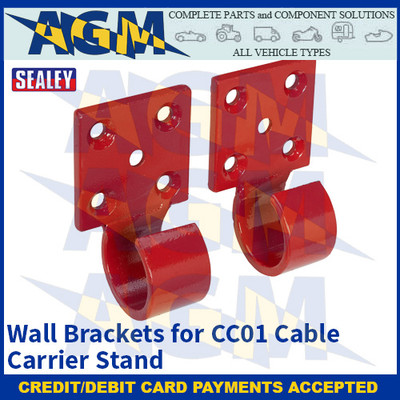 Sealey CC01WB Wall Brackets for CC01 Cable Carrier Stand