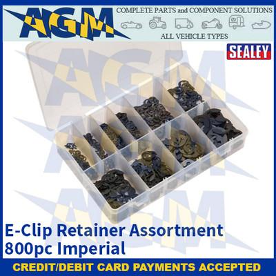 Sealey AB013ER E-Clip Retainer Assortment 800pc Imperial