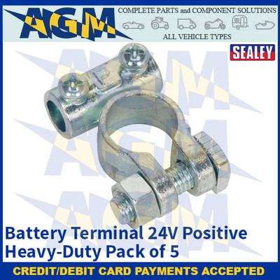 Sealey BTP21 Battery Terminal 24V Positive Heavy-Duty Pack of 5
