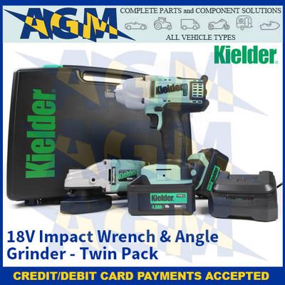 Kielder KWT-TPK-07 18V Impact Wrench & Angle Grinder - Twin Pack