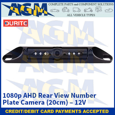 Durite 0-774-71 1080p AHD Rear View Number Plate Camera (20cm) – 12V