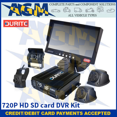 Durite 0-775-36 720P HD SD card DVR Kit (4 camera inputs, incl. 4 x 720P cameras & a SD card)