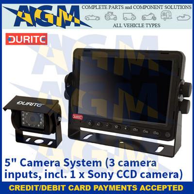 "Durite 0-776-75 5"" Camera System (3 camera inputs, incl. 1 x Sony CCD camera)"