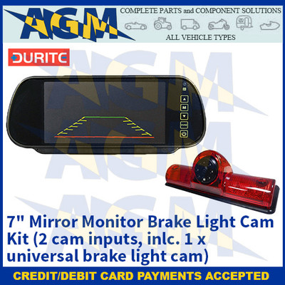 "Durite 0-099-45 7"" Mirror Monitor Brake Light Cam Kit (2 cam inputs, inlc. 1 x universal brake light cam)"