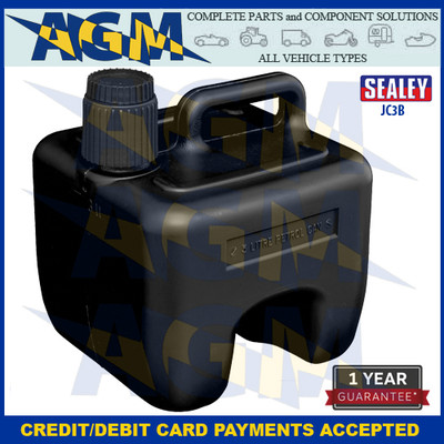 Sealey JC3B Stackable Jerry Can 3 Litres Black Plastic Gerry Tin/Can