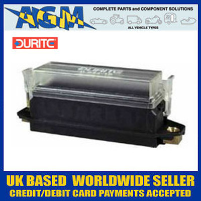 Cargo 192484/Durite Panel Mountable Fuse Box For Standard Blade Fuses - 8 Way