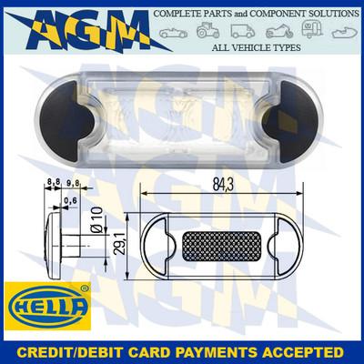 Hella 2PF 959 855-201 DuraLED Grilamid White LED Marker Light 12/24v