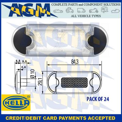 Hella 2PF 959 855-207 DuraLED Grilamid White LED Marker Light 12/24v