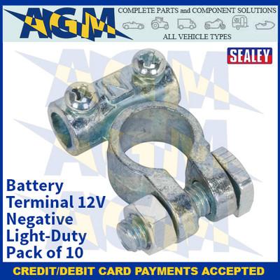 Sealey BTN2 Battery Terminal 12V Negative Light-Duty Pack of 10