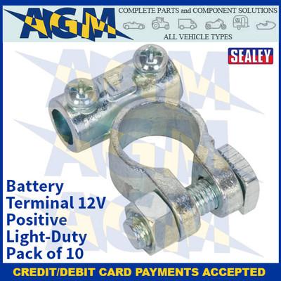 Sealey BTP1 Battery Terminal 12V Positive Light-Duty Pack of 10