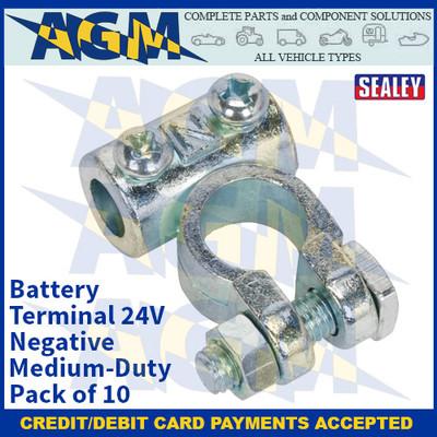 Sealey BTN4 Battery Terminal 24V Negative Medium-Duty Pack of 10
