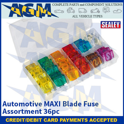 Sealey BCF36 Automotive MAXI Blade Fuse Assortment 36pc