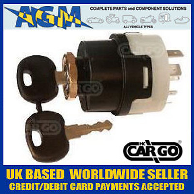 Cargo 180044 Popular 5 Position Ignition Sswitch with Pre-Heat 12/24v