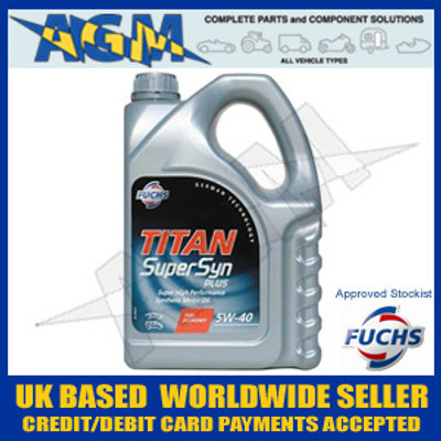 Fuchs Titan 600719425 Supersyn 5W-40 High Performance Fully Synthetic Engine Oil