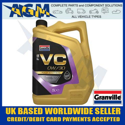 granville, fs vc, 0w-30, fully, synthetic, long, life, engine, oil, 0w/30