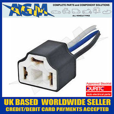 Durite H4 Ceramic Headlight bulb Holder Connector with 100mm Lead
