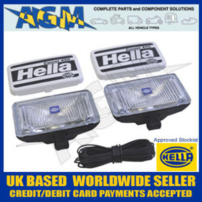 Hella 1NB 005 860-601 Comet 450 x2 Fog Lamps Set 12/24V
