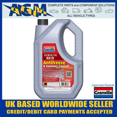 Granville 2603 Zerocol Red Long Life Anti Freeze 5 Ltr
