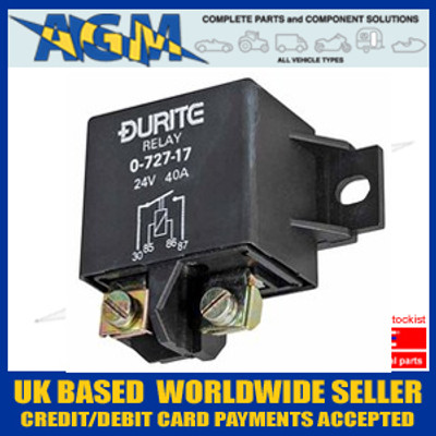Durite 0-727-17, 24V 40 AMP Heavy Duty Make/Break Relay 'BOSCH Style'