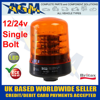 Britax B201.00.LDV Series LED Beacon suitable for both 12 and 24 volt Use