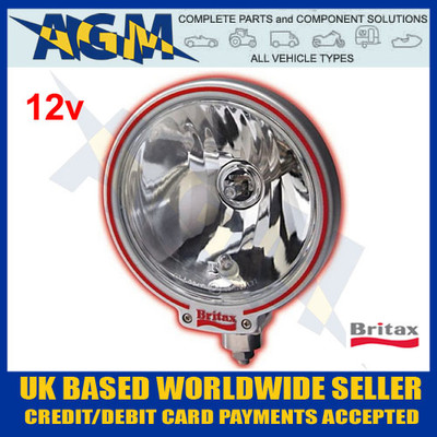 Britax L09.00.12v Classic Round Clear Glass Driving/Spot Lamps