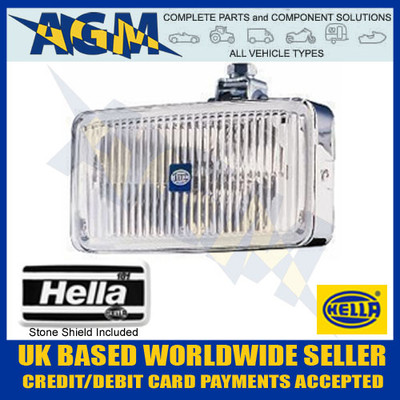 HELLA Classic 12/24v 181 Rectangular Chrome Body Fog Lamp 1ND 003 590-401
