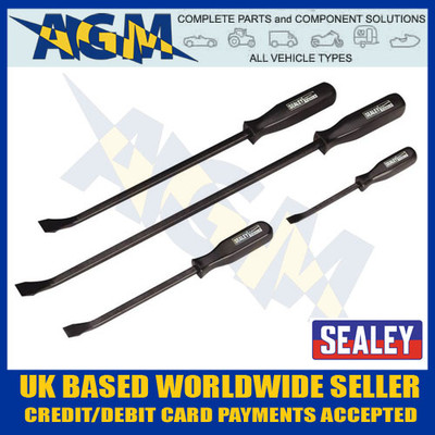 SEALEY AK206 4 Piece Heavy Duty Prybar Set