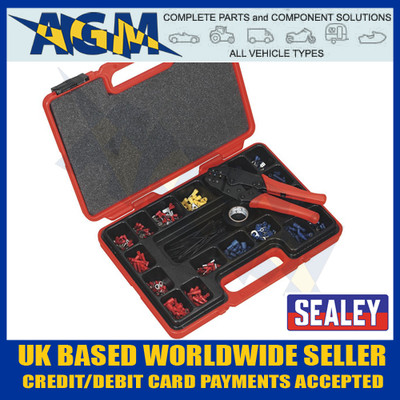 Sealey AK386 Ratchet Crimping Tool Kit 552 Piece & Pliers & Insulated Terminals