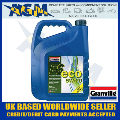 Granville 0773 FS-ECO 5W/20 Fully Synthetic Engine Oil 5 Ltr