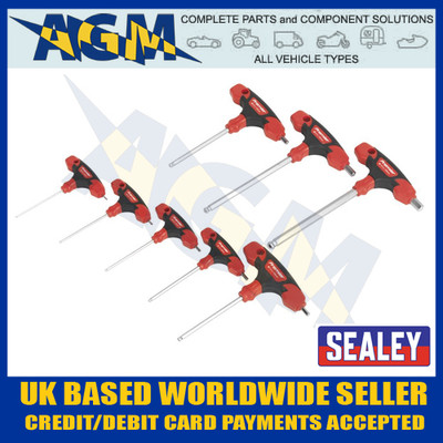 Sealey AK7144 Ball End Hexagen Hex Allen Key Set 8 pc Kit with T Handles Metric