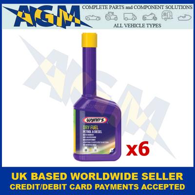 Wynns Professional 71867/71851 Dry Fuel - 325ml Bottle Petrol/Diesel (Pack of 6)