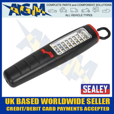 sealey, led307, smd, led, rechargeable, torch, lantern, hand, lamp, inspection, light