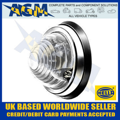 Classic Caravan Motorhome 70mm Round Domed Flush Mount Clear Front Lamp 12/24v
