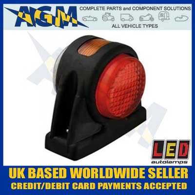 led, 1005rwm, rubber, end, outline, side, marker, lamp, red, white, amber, 12v, 24v
