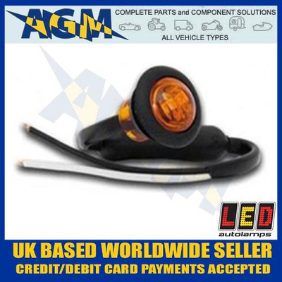 led, 181ame, trailer, round, front, marker, light, lamp, white, 12v, 24v