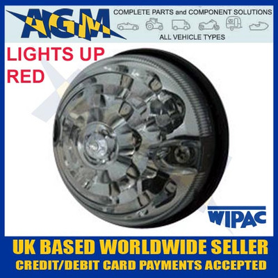 land, rover, s6065led, lsl, rdx, 73mm, 74mm,  clear, red, lamp, light, 12v, 24v