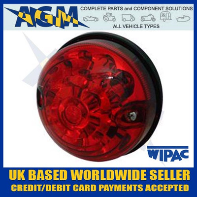 Land Rover S6062LED LSL/RDX 73mm/74mm RED Stop Tail Lamp/Light 12/24v
